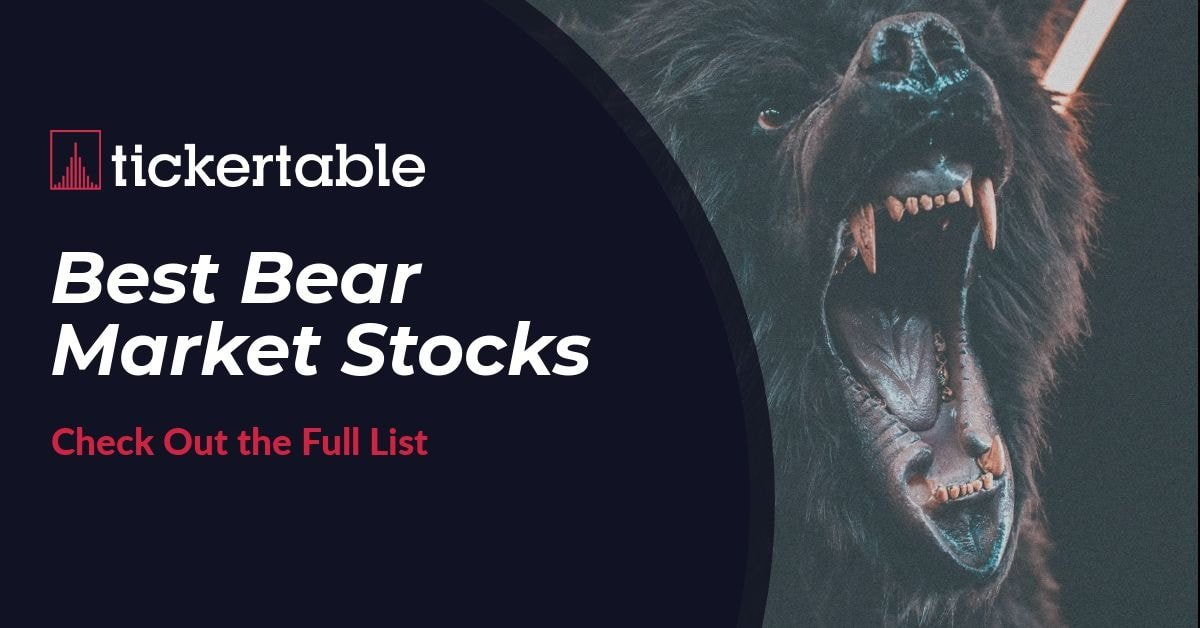 Best Bear Market Stocks